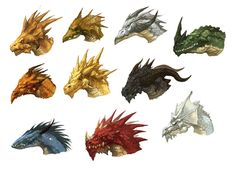 Dragon Heads by *nJoo on deviantART
