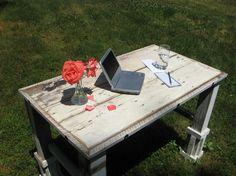 rustic white desk