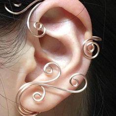 Tear Drop Gold Plate Ear wrap Ear Cuff ear jacket earring component non pierced jewelry making Ear Jewelry, Jewelry Findings, Jewelry Accessories, Gold Jewellery, Jewelry Making, Ear Climber, Wire Ear Cuffs, Elf Ear Cuff, Ear Jacket