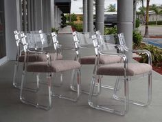 4 Stunning Lucite Chairs image 2