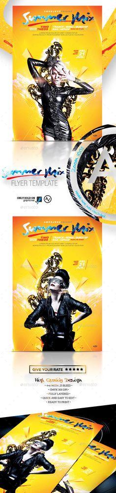 Summer Mix Flyer Tempalte #design Download: http://graphicriver.net/item/summer-mix-flyer-template/11683089?ref=ksioks
