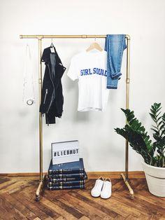 """Garderoben - Industrial Kleiderstange Stahlrohr """"RAW HOOK I"""" - ein Designerstück von liebwut bei DaWanda"""