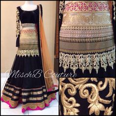 Timeless Treasure, high-waisted lehenga by MischB Couture, indian fashion
