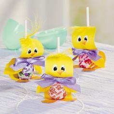 Chick Lollipop Easter Craft Idea