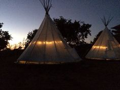 Tipi in the night