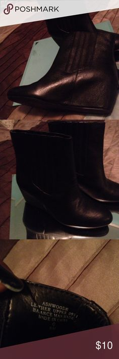 Nine West Ashwood booties Very nice booties....Small scratch on left boot toe. Price reflects imperfection on shoe Nine West Shoes Ankle Boots & Booties