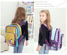 Russia Style Girls School Bags Cartoon Birds Pattern Waterproof Breathable Orthopedic Children's Backpacks Mochila Infantil