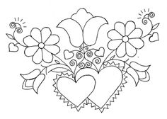 Mania Dziergan(i)a: Haft ze Schwalm Embroidery Hearts, Embroidery Works, Hand Embroidery Patterns, Beaded Embroidery, Beading Patterns, Embroidery Stitches, Bordado Popular, Drawn Thread, Quilling Patterns