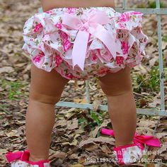 Baby Girls Satin Ruffle Bowknot Bloomers Shorts