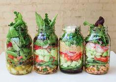 Mason jars are the longest-lasting way to keep salads.