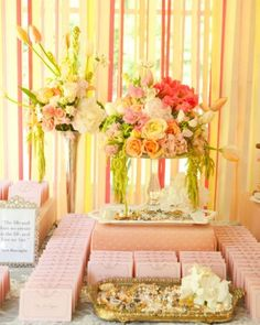 "See the ""The Escort Cards"" in our A Pink-and-Yellow Vintage-Inspired Wedding in Utah gallery"