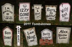 Home-made Tombstones
