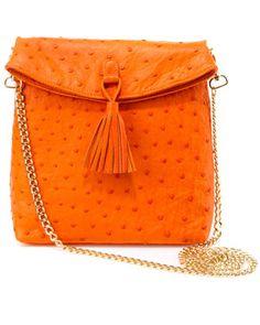 W.H. Petronela Ostrich Crossbody Bag