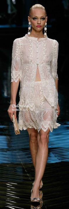 Valentino Exquisite White Lace Evening Dress. OMG, I want to pin all of them. One after another after another -- clothes so beautiful they leave me gasping.