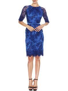 Millie Scallop Lace Dress | MONTIQUE