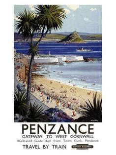 Giclee Print: Penzance by Harry Riley : 60x44in