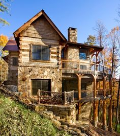 26 great wooden and stone houses images log homes home decor rh pinterest com
