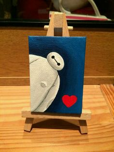 40 All-time Cutest Miniature Painting Ideas - Acrylique - Disney Disney Canvas Paintings, Disney Canvas Art, Art Disney, Small Canvas Art, Cute Paintings, Easy Canvas Painting, Mini Canvas Art, Diy Canvas, Diy Painting