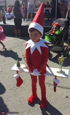 Abigale: My son Trace came up with the idea of being the Elf on the shelf. We dyed a body suit red and I free handed all of the rest with... #coupon code nicesup123 gets 25% off at  Provestra.com Skinception.com