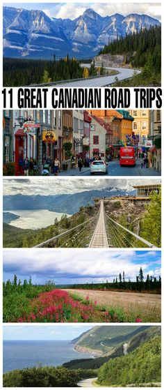 11 Great Canadian Road Trips Ready to hit the road and travel across Canada? Here are 11 Great Canadian Road Trips to add to your summer bucket list. Do one or do them all, and take in some of the diverse landscapes and destinations in Canada. Places To Travel, Travel Destinations, Places To Visit, Voyage Canada, Canada Canada, Canada Trip, Canada Summer, Visit Canada, Travel To Canada