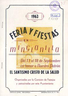 Fiestas de Minglanilla (Cuenca) en honor del Cristo de la Salud del 13 al 18 de septiembre de 1963 Al terminar la procesión, tradicional subasta de las varas #Fiestaspopulares #Minglanilla #Cuenca