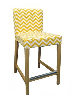 Chevron Custom Slipcover for IKEA Henriksdal Bar Stool from Knesting, IKEA Henriksdal cover on Etsy, $60.27 CAD