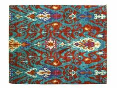 Amazon.com - 8' X 10' High Quality Area Rug, Sky Blue Hand Knotted Sari Silk Suzani Rug Sh6653 - Blue Persian Rug