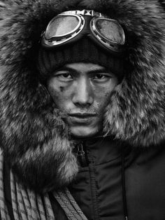 """"""" Chinese Model Hao Yun Xiang by Anders Overgaard for the Harrods Magazine's Winter 2016 Edition """" Kdrama, Presque Rien, Snow Girl, Wilhelmina Models, Outdoor Fashion, Face Men, Chinese Model, Mountain Man, Harrods"""