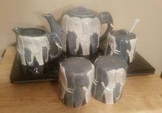 OTAGIRI Tom Taylor Design Elephant Teapot Complete 8 Piece Set Japan