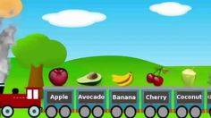 Fruits Train For Children, Fruits Song For Toddlers, Preschoolers and Kindergarten.