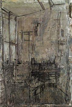 Jacek Sienicki (Polish, Wnetrze z oknem [Interior with Window], Oil on canvas, 147 x 97 cm.via jahnakim Oil On Canvas, Art Gallery, Landscape, Abstract, Polish, Photography, Window, Inspiration, Professor