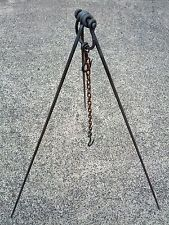 1200mm Camp Tripod - Blacksmith Made / Camping, cooking, oven, campfire