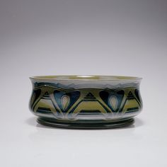Henry Van De Velde (1863-1957), Glaze Decorated Ceramic Bowl.
