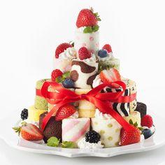 ロールケーキタワー 可愛いロールケーキ #cake #birthday #誕生日ケーキ #バースデーケーキ