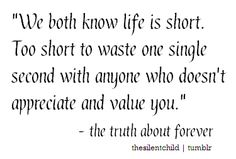 My favorite book...the truth about forever by Sara Dessen...I actually underlined this exact quote in it.
