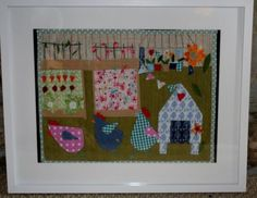 Betty, Doris and Ethel www.facebook.com/zoewrighttextiles chickens, applique, fabric