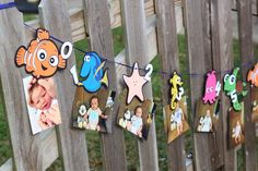 Finding Nemo, Finding Dory themed monthly picture number line banner, milestone banner by southernladygifts on Etsy https://www.etsy.com/listing/573743061/finding-nemo-finding-dory-themed-monthly