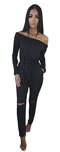 23119764572d Adogirl Women Hole Off Shoulder Jumpsuits 2016 Autumn Lady Long Sleeve Long  Pants Jumpsuit Night Club Rompers One Piece Overalls