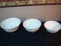 Horchow Ceramic Bowl Set - Fruit Design