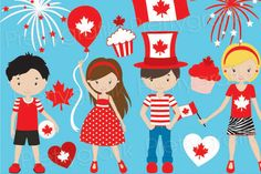 Check out Canada day clipart commercial use by Prettygrafik Design on Creative Market