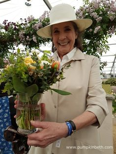 Liccy Dahl unveiling the new David Austin English rose which has been named in honour of her late husband, Roald Dahl, at the RHS…