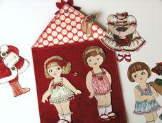 """Christmas """"paper"""" dolls - girl. Inspired."""