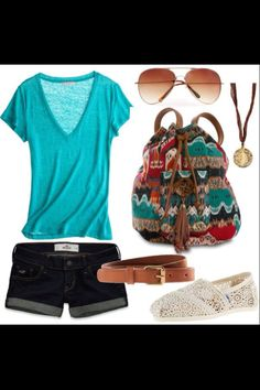 Causal summer outfit.