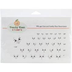 Peachy Keen-Stamps Clear Face Assortment. Put a face to any project for a fun, unique look! Pretty up your crafts with these original, clear, peach-tinted, whimsical face stamps and original illustrat