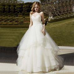Gorgeous Vestido De Princesa White/Ivory Robes De Mariee A-Line Sweetheart Decorative Appliques Vintage Wedding Dress Plus Size