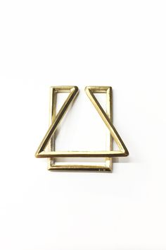 - All the designs in the Paper Clip Series are inspired by 19th century paper clips. - Lost wax casted in Brass. Handmade in NYC's Diamond District About the maker: Founded by Virginia Sin, SIN is foc