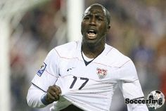 USMNT striker Jozy Altidore scored twice against Nigeria in a World Cup warm-up game. Sunderland, Warm Up Games, Sports Wallpapers, Fifa World Cup, Soccer Players, Baseball Cards, Football Players