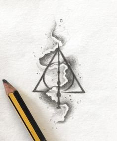 Harry potter art drawings hogwarts deathly hallows Ideas for 2019 Tattoo Tod, Hp Tattoo, Book Tattoo, Harry Potter Drawings, Harry Potter Art, Harry Potter Memes, Harry Potter Tattoos Sleeve, Harry Potter Deathly Hallows, Deathly Hallows Tattoo