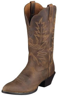 I own these boots! Bought them in Vegas! Super cute with dark jeans Ariat Women's Heritage Western R Toe Cowboy Boots - Distressed Brown Botas Western, Western Wear, Western Boots, Western Cowboy, Bota Country, Country Boots, Country Style, Cute Shoes, Me Too Shoes