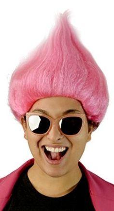 Troll Wig Bright Deluxe Colour Festival Elf Cosplay Cartoon Fancy Dress